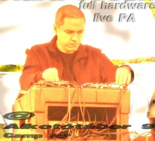 Aura Fresh full hardware live PA @ Alkototabor 9 / Camp for Minimal Music Lovers 9, 07-22-2012.